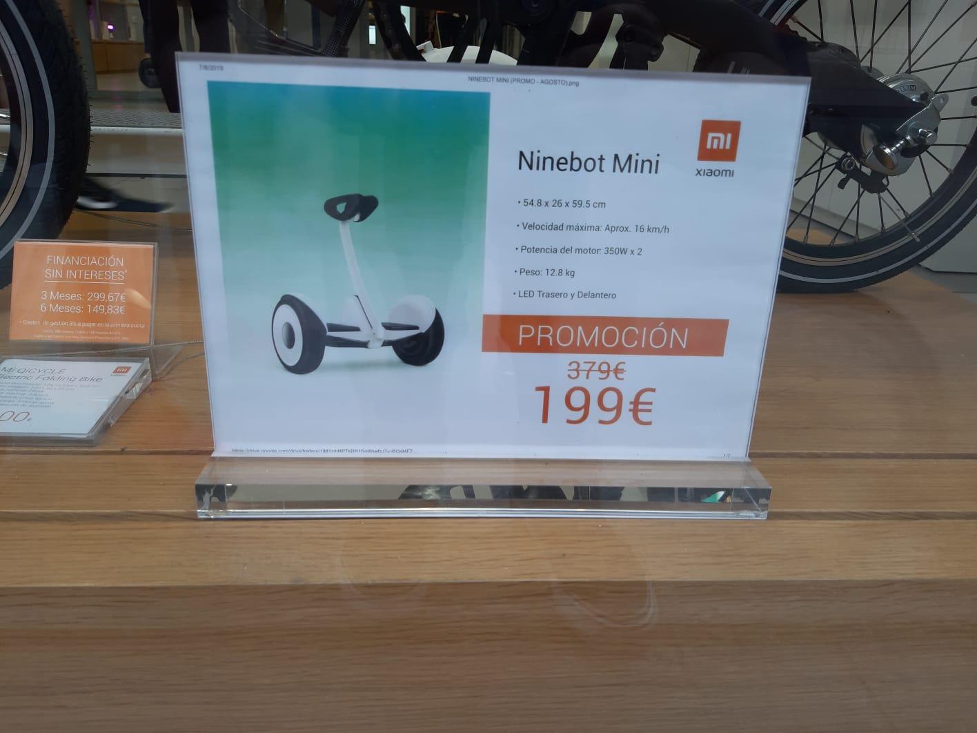 Ninebot Xiaomi en tienda física Xiaomi de Sol (Madrid)