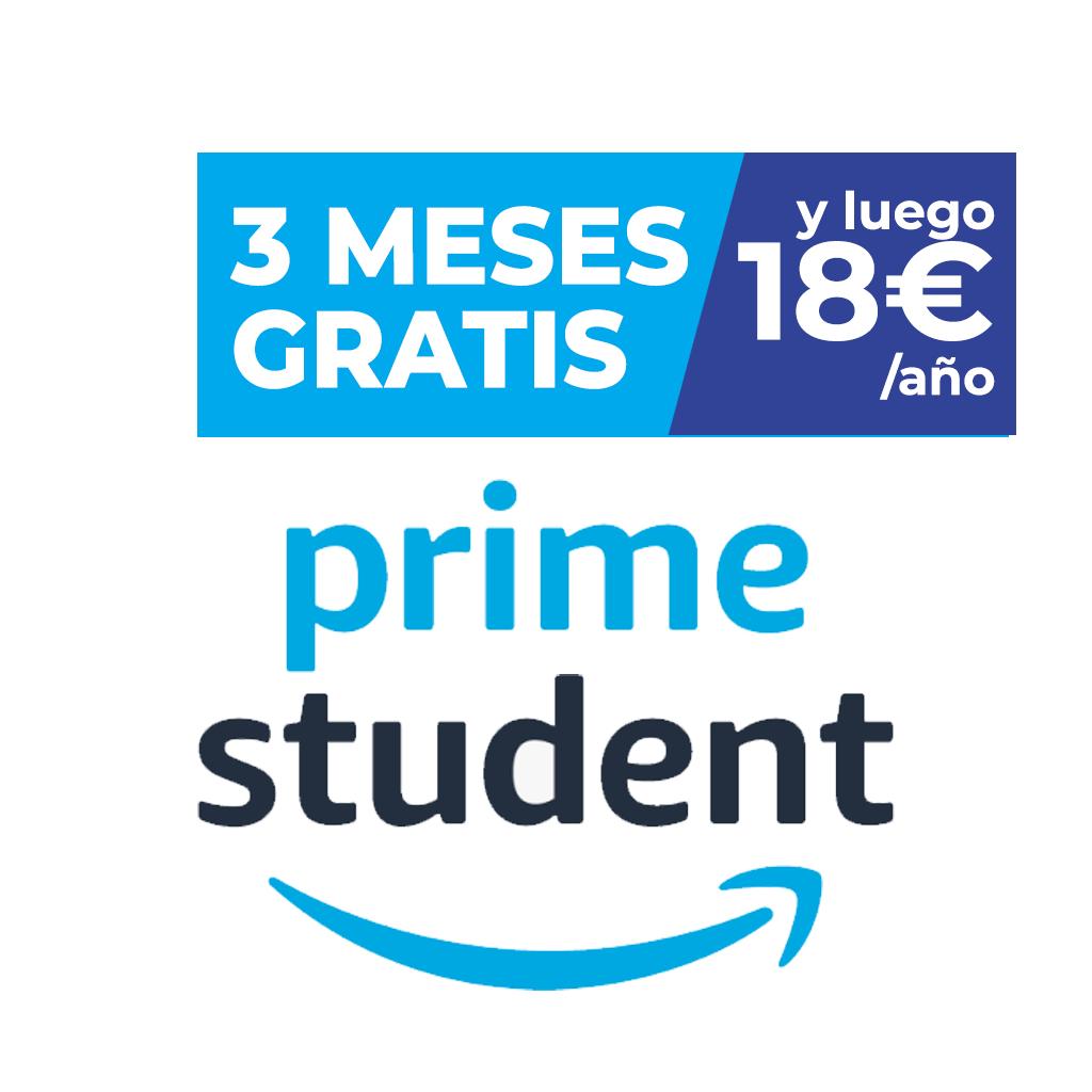 3 meses gratis de Amazon Prime para estudiantes y después 18€ al año