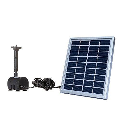 Bomba de Agua con Panel de Energía Solar para Piscina Jardín Fuentes (9V , 2W)
