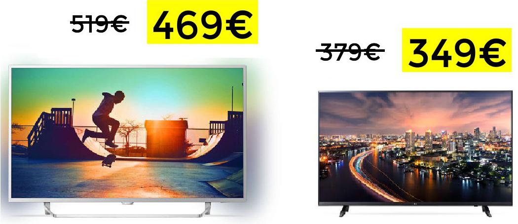 "Philips Ambilight 49"" Smart TV 469€"