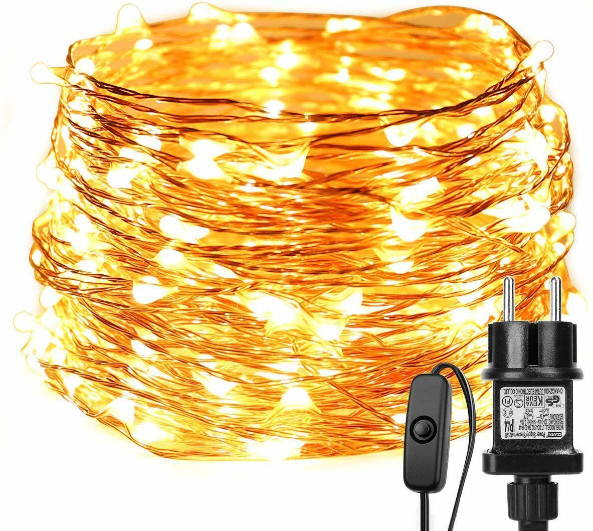 Amazon: Luces de decoración 20 metros IP65 resistente al agua