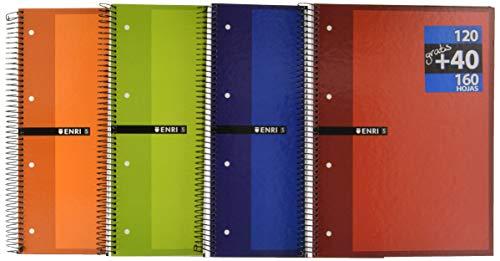 Pack 5 cuadernos tapa dura A4