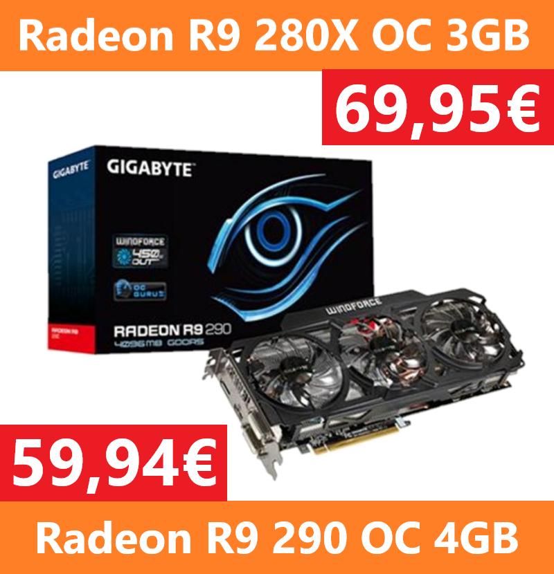 Liquidación de Radeon R9 280x OC y Radeon R9 290 OC - Reacondicionado