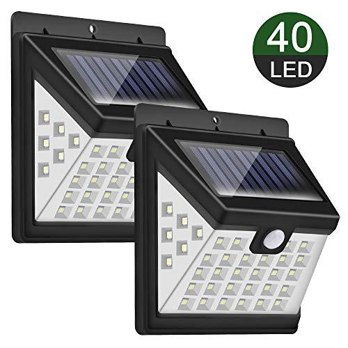 Pack de 2 luces solares de 40LED