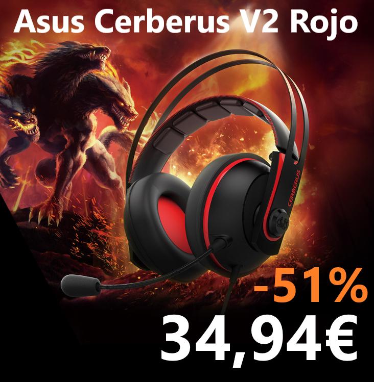 Asus Cerberus V2 Rojo - Auriculares (o Azul)