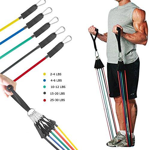 Bandas de resistencia elásticas para entrenamiento y Fitness