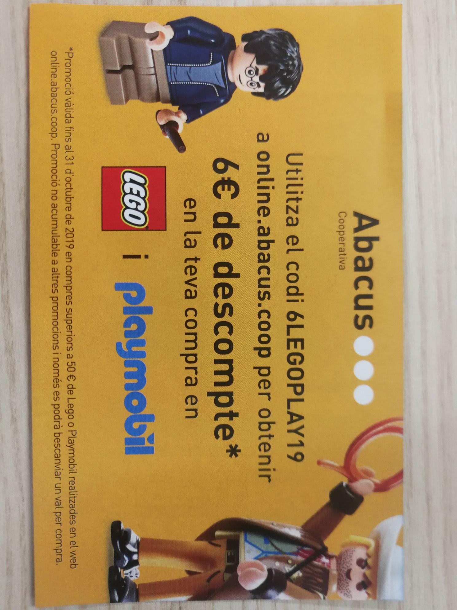 Descuento de 6 euros Lego y Playmobil.
