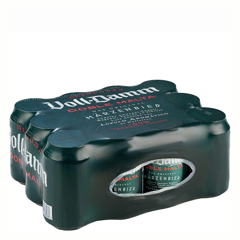 24 latas de cerveza Voll-Damm 33 cl.  por 14 €