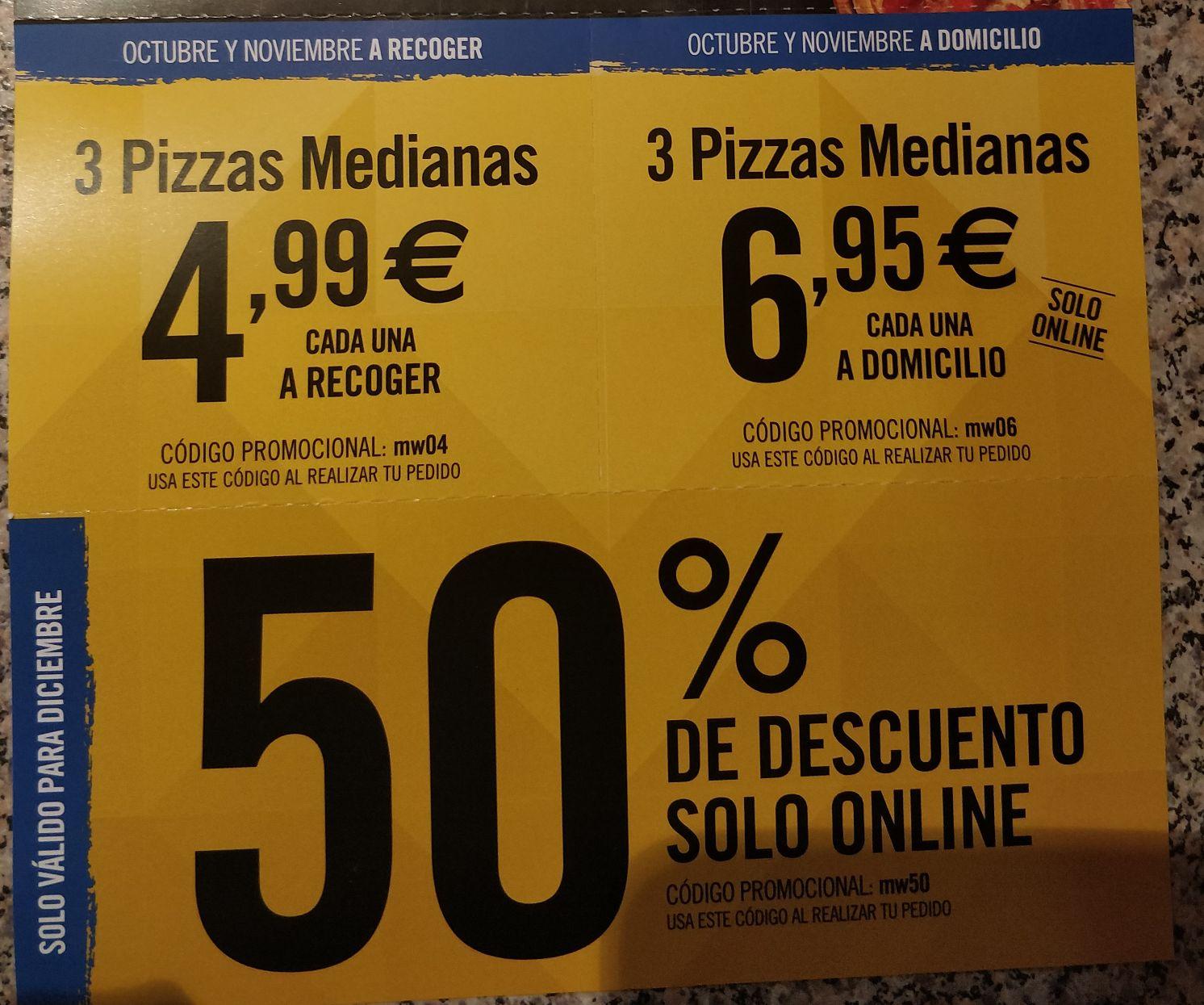 Cupones Domino's Pizza octubre noviembre y diciembre