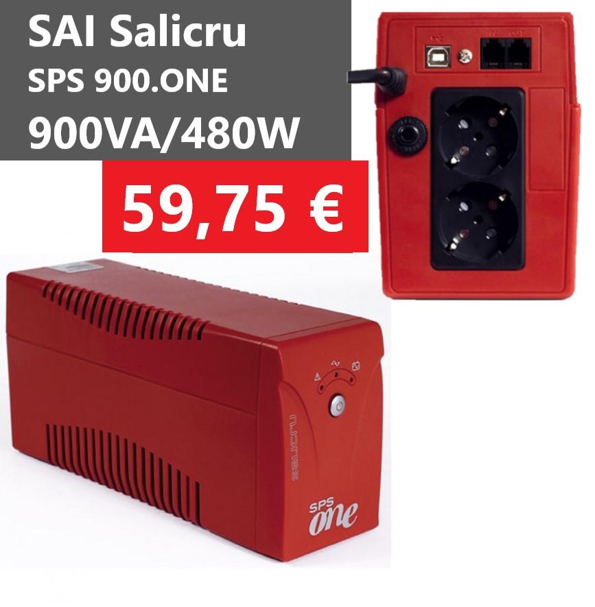 SAI Salicru SPS.900.ONE 900VA/480W line-interactive 2 tomas schuko