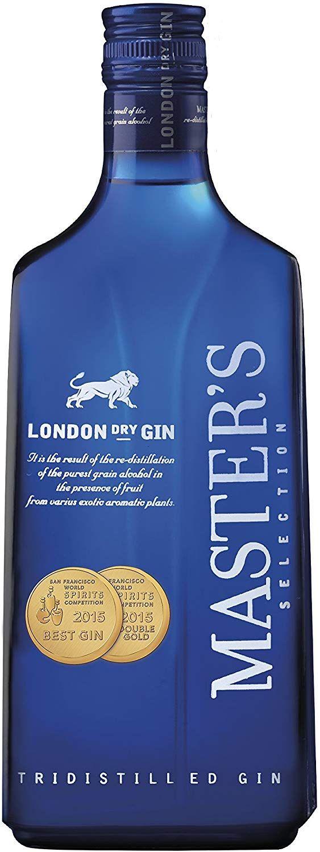 6 Botellas de Ginebra Master's Dry Selection - 700 ml. - Total: 4200 ml.