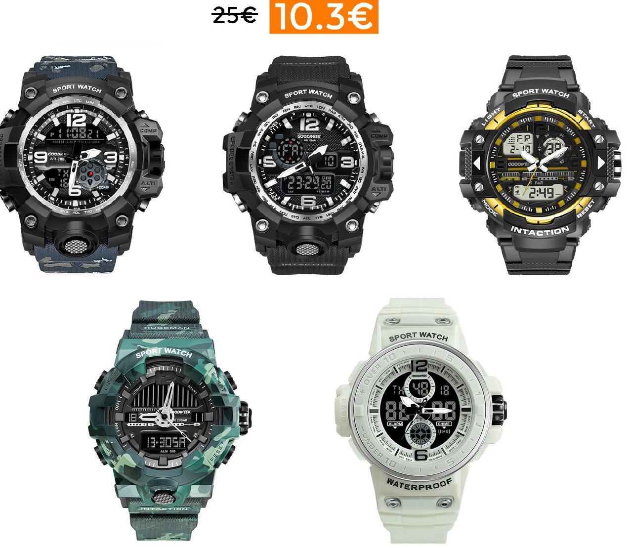 Ofertazas en relojes deportivos GOODWEEK