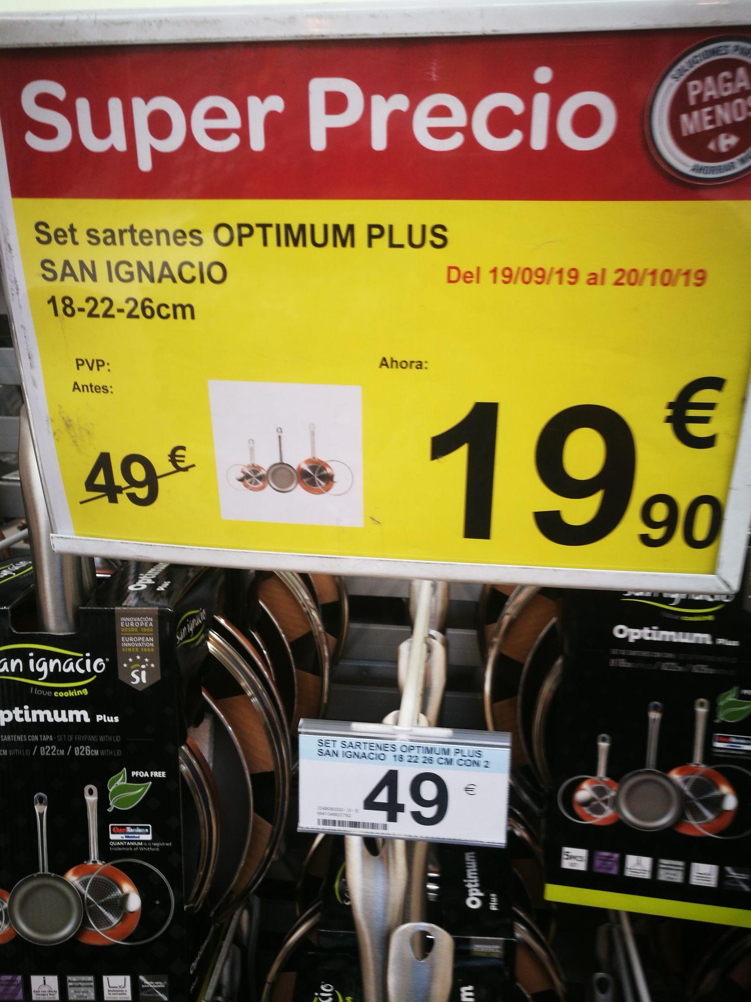 Set sartenes OPTIMUM PLUS SAN IGNACIO 18-22-26cm
