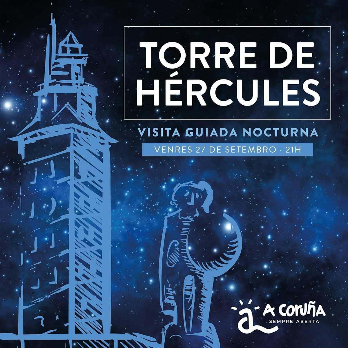 Visita guiada nocturna 27 de septiembre a la Torre de Hércules
