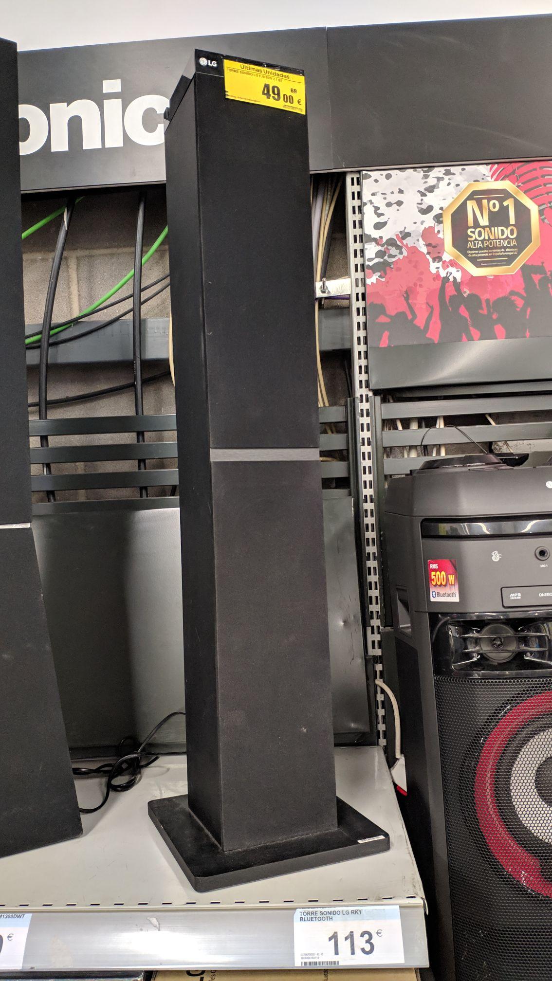 Torre de sonido LG rk1 Bluetooth (Carrefour de Mega park San Sebastián de los Reyes)