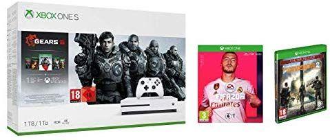 Súper pack XBOX Gears 5 + FIFA 20 + The Division 2 por 243€ con tarjeta sin comisión