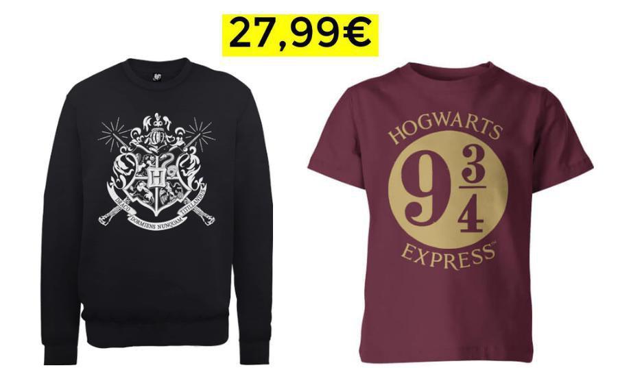 Harry Potter Sudadera + Camiseta 27.9€
