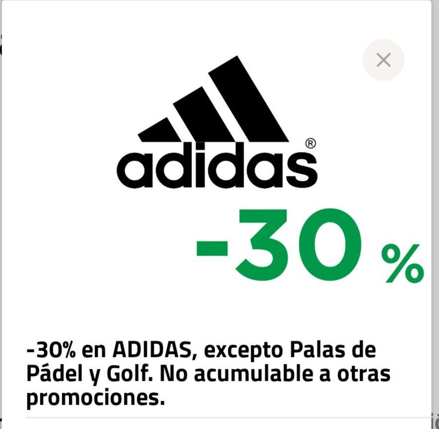 30% en adidas El Corte Inglés pagando con wayllet + Envío Gratis a partir de 50 €