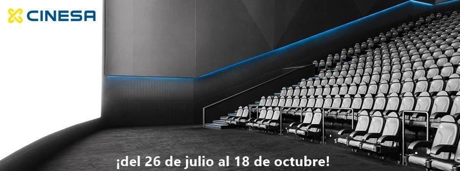 Entradas Cinesa 5 euros lunes a jueves y 5,90 jueves a domingo, excepto Madrid y Cataluña