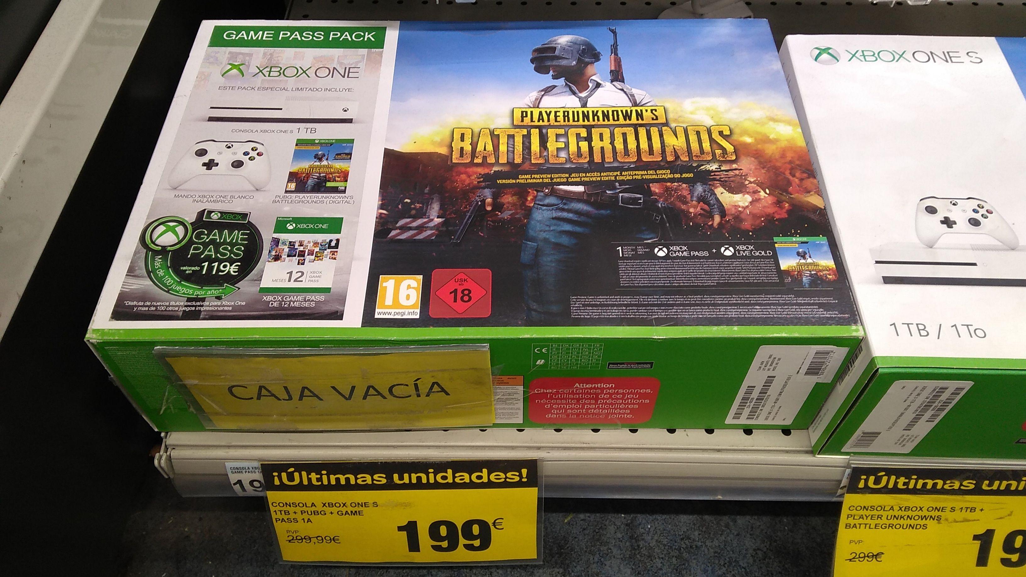 Xbox one s + mando + juego + 1 año Game pass (Carrefour Sestao en Vizcaya)