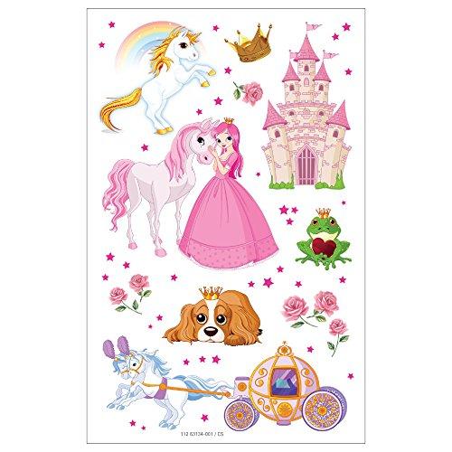 3 hojas de pegatinas diseño de princesas