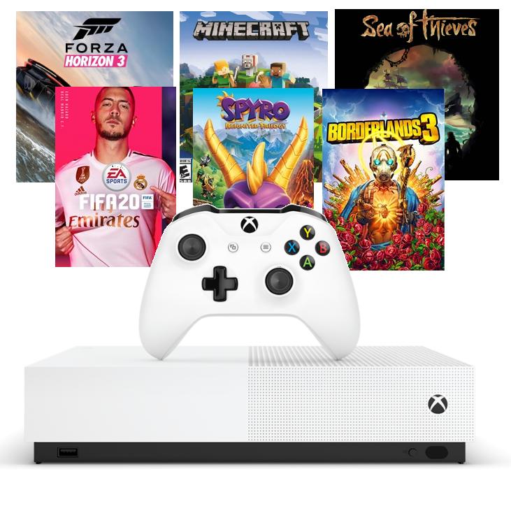 Xbox One S 1TB + 3 Juegos + REGALO: Fifa 20 o Borderlands o 3 Spyro