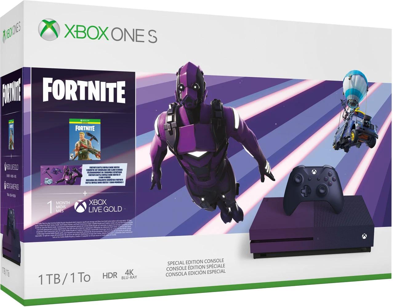 XBOX ONE S 1TB edición Fortnite battle royale + 1 juego digital FIFA 20, Spyro o Borderlands 3