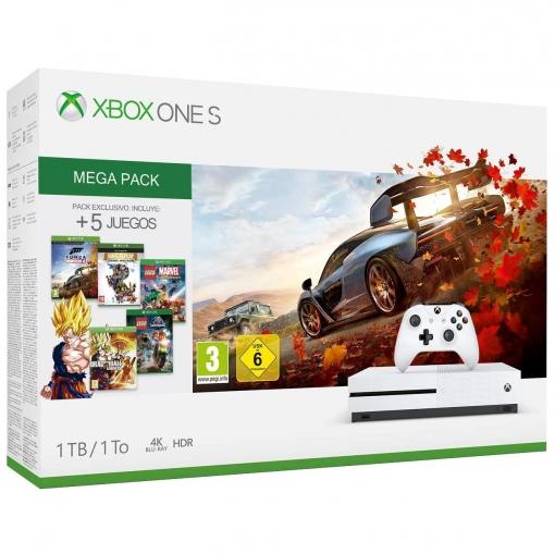 Xbox one s con 5 juegos