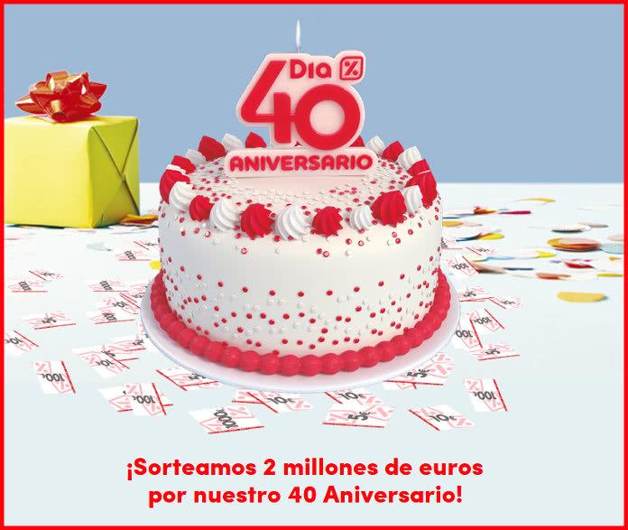 Productos por menos de 1€ en el 40 aniversario de dia