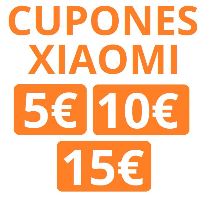 Cupones de 5€, 10€ y 15€ sin mínimo para Xiaomi
