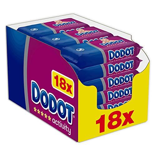 18 paquetes Dodot Activity - Toallitas para bebé