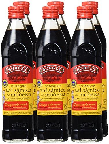 6 botellas de 500ml de Vinagre Balsámico de Módena Borges
