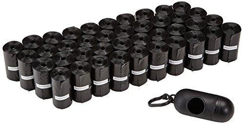 Bolsas para excrementos de perro con dispensador y clip para correa (600 bolsas)