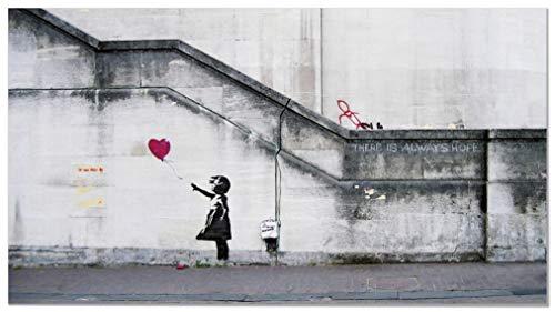 Panorama® Póster de Banksy - Niña del Globo 73 x 40 cm |