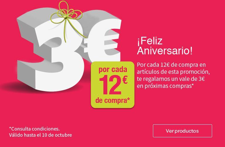 Carrefour cheque 3€ por cada 12€ acumulable a 2ª al 50%