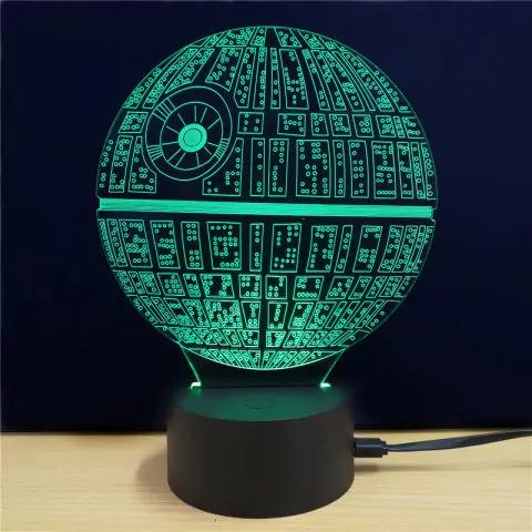 Lampara LED 3D Star Wars