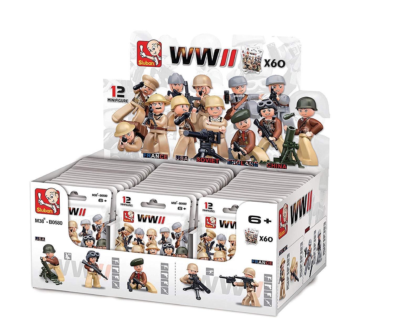 60 muñecos Sluban WWII  tipo Lego