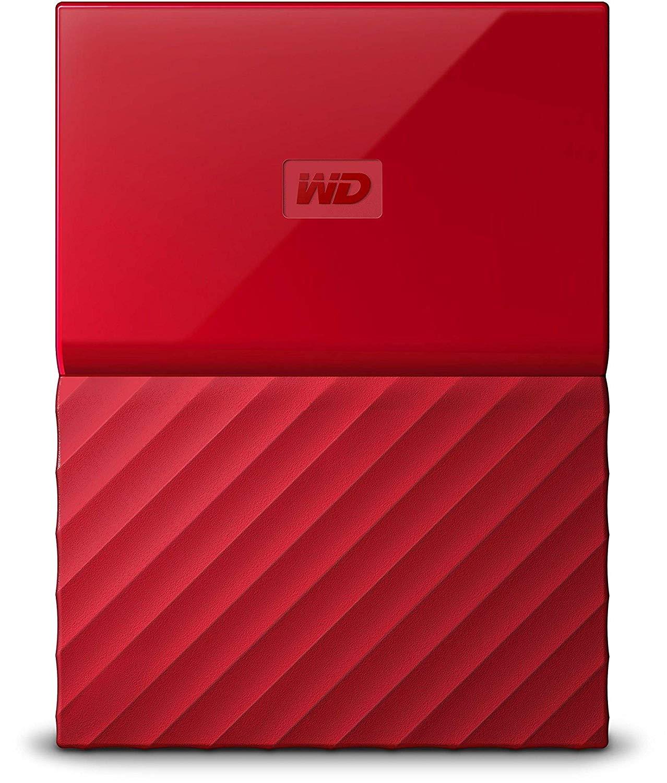 WD My Passport 3Tb color rojo