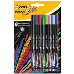 Pack Bic Intensity Fineliner, 8 rotuladores de punta fina