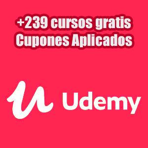 +239 cursos gratis en la Plataforma Udemy (Inglés)
