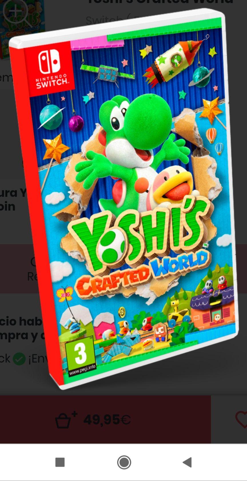 Yoshi's  Crafted World + Figura Yoshi rosa gratis