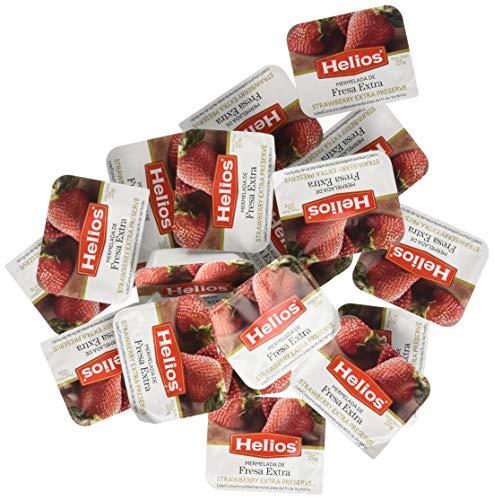 Helios Mermelada De Fresa - Pack de 64 x 25 gr, Total: 1600 gr