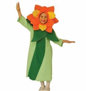 Disfraz de niña flor de margarita talla única
