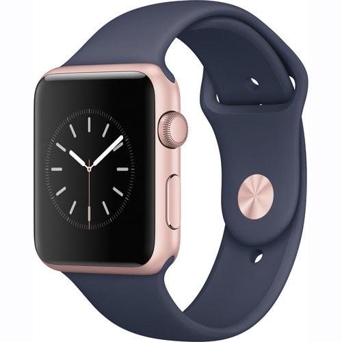 Apple Watch Series 1 42mm (Rose Gold, correa azul)