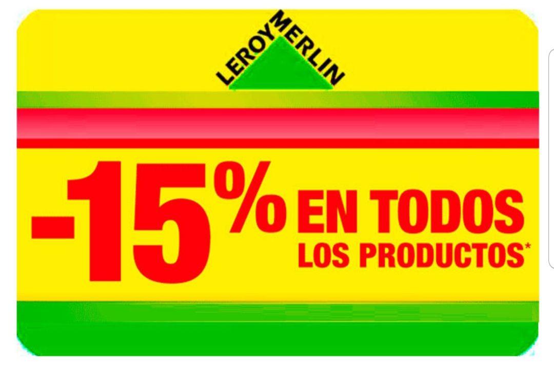 15% Descuento este jueves 26 Sept. Leroy Merlin y Aki tienda física (Solo socios)