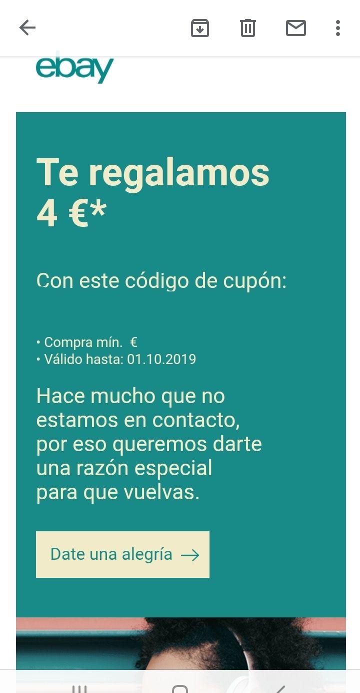 4€ sin mínimo para cuentas SELECCIONADAS