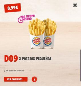 2 Patatas Pequeñas Burger King