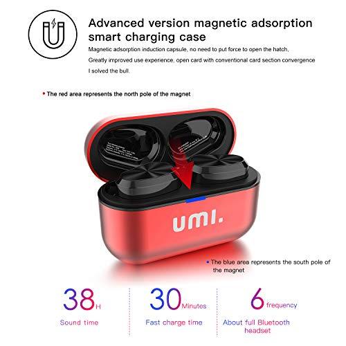 Umi. by Amazon - Auriculares de botón inalámbricos (TWS) W5s con Bluetooth 5.0