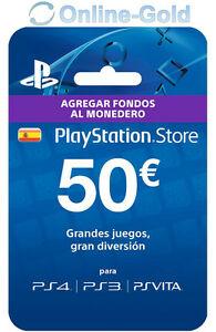 Tarjeta prepago 50 Euros PSN Store