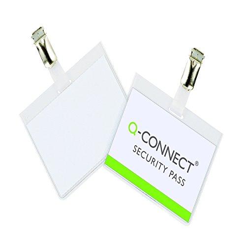 100 unidades de Q-Connect Identificador Con Pinza KF01562 60X90 Mm -Cerrada